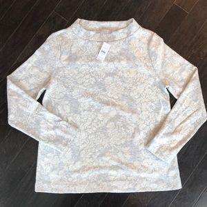 Loft Floral Jacquard Sweater